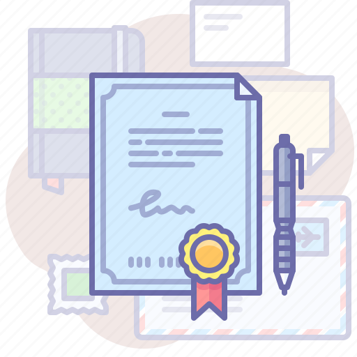 Certificate, document, sign icon - Download on Iconfinder