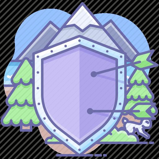 Arrow, shield, war icon - Download on Iconfinder