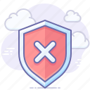 alert, error, protection, security, shield, warning icon