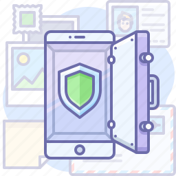 mobile, protection, safe icon