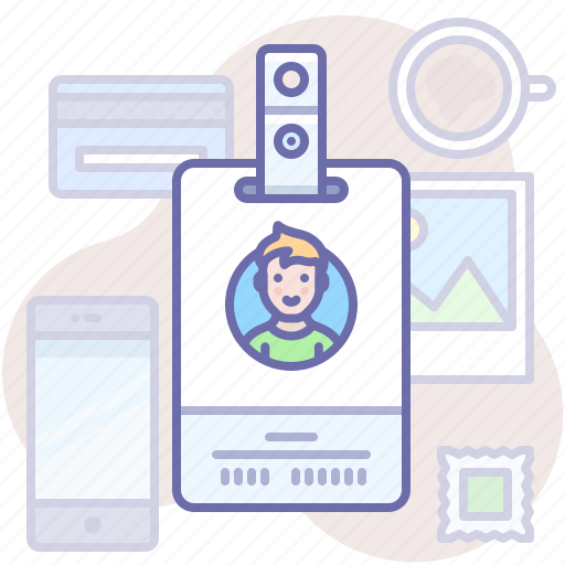 Badge, id, man icon - Download on Iconfinder on Iconfinder