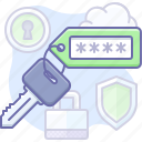key, password, tag icon