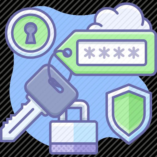 key, password, tag icon