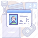 card, driver, license icon