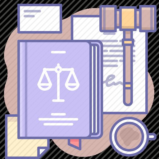 hammer, justice, law icon