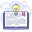 advice, book, bulb, how, know, knowledge, light icon