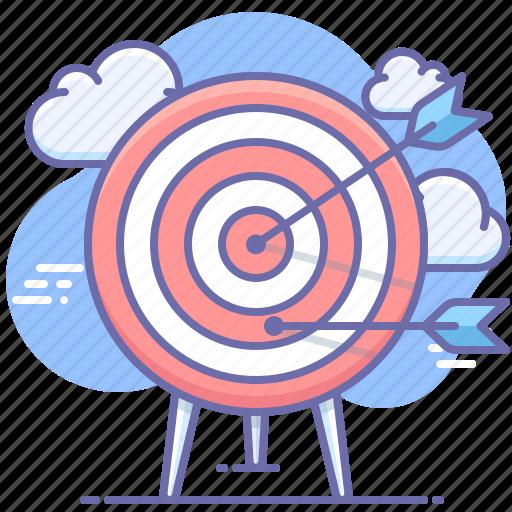 arrow, goal, marketing icon