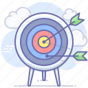 archery, arrow, focus, goal, marketing, strategy, target icon