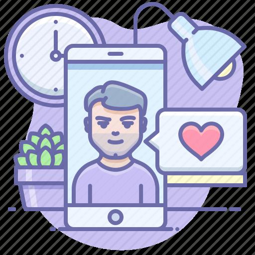 app, dating, phone icon