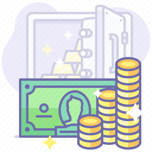 cash, money, safe icon