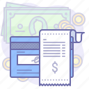 card, money, receipt icon