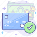 card, check, money icon