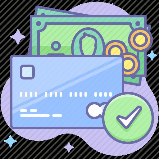 card, check, money icon