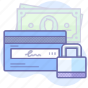 card, money, safe icon