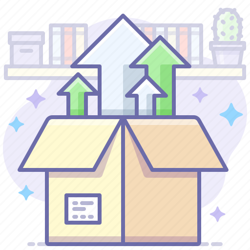 box, delivery, install icon