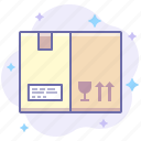 box, delivery, fragile, product icon