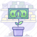 business, money, plant icon
