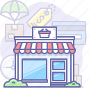 building, market, shop icon