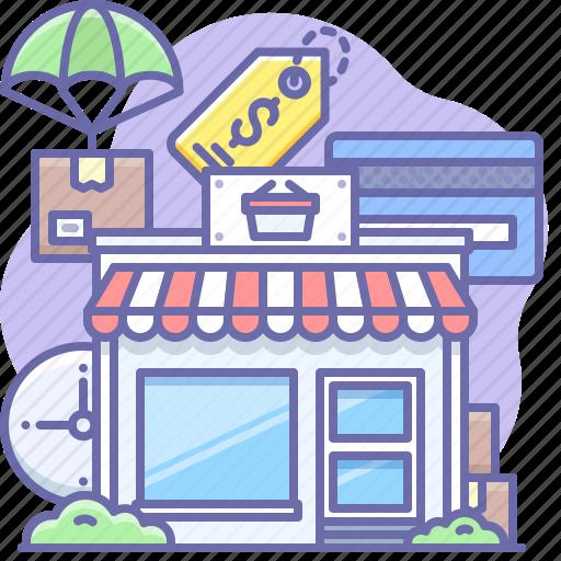 building, market, shop icon