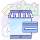app, card, online, payment, shop, store, tablet icon