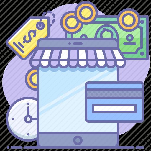 app, online, shop icon