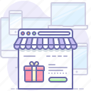shop, online, browser icon