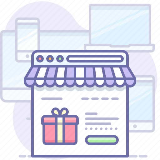 browser, online, shop icon