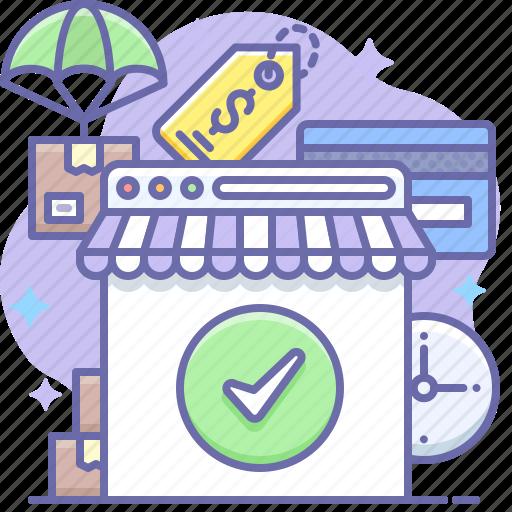 commerce, online, shop icon
