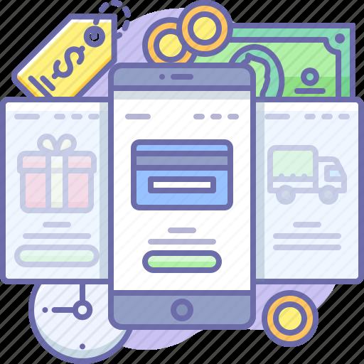 Online, shop, mobile icon - Download on Iconfinder