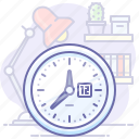 clock, hours, office, time, working, workplace icon