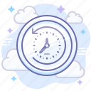 backup, cloud, data, machine, restore, time icon