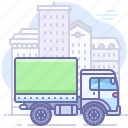 car, city, delivery, transport, truck icon
