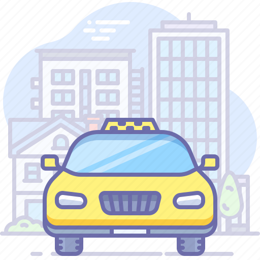 city, taxi, transport icon