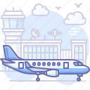 airport, plane, travel icon