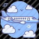 airplane, flight, transport icon