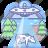 abduction, cow, ufo icon