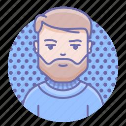 beard, man, person