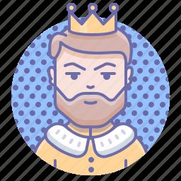 crown, king, man