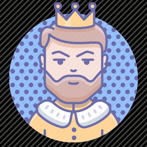 crown, king, man icon