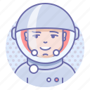 cosmonaut, space, person