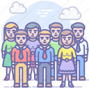 crowd, employee, group, meeting, people, team icon