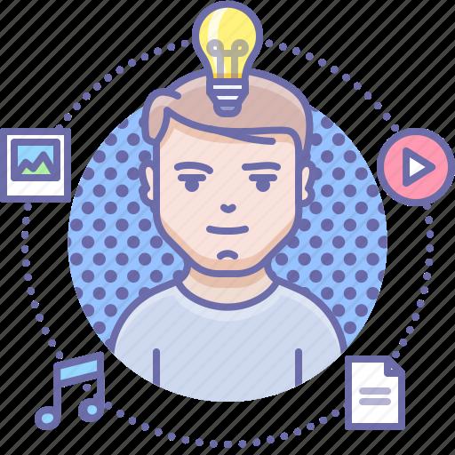 creative, idea, person icon