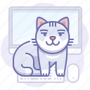 animal, cat, computer icon
