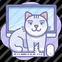 cat, animal, computer
