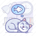 animal, cat, sleep icon