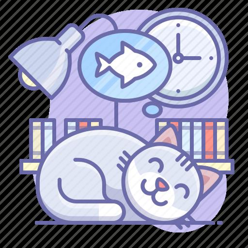 animal, cat, sleep icon