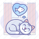 animal, cat, kitty, meow, pussy, pussycat, sleep icon
