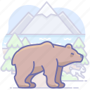 animal, bear, grizzly, nature, wild icon