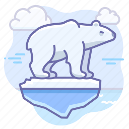 arctic, bear, animal