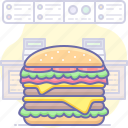 burger, cheese, fast, fastfood, food, hamburger, restaurant icon